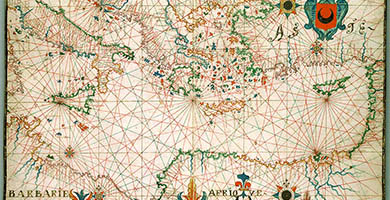 1377  Map_of_ Eastern_ Mediterranean._ H M_34._ P O R T O L A N_ A T L A S _anonymous._ France_() _ca._1600