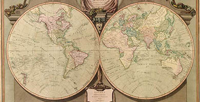 0292  A New Mapofthe World  Robert Laurieand James Whittle 1808